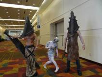 A family cosplaying together, Pyramid Head and Nurse