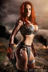 Claire Anastasia as Red Sonja
