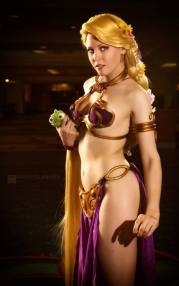 Maid of Might as Rapunzel as Slave Leia