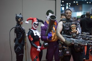 Catwoma, Harley, Joker, Cable