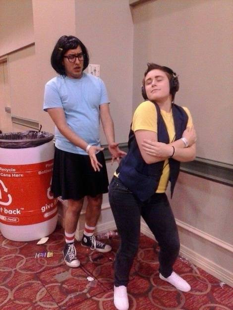 Tina Belcher and Jimmy Jr