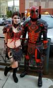 Medieval Deadpool and Harley Quinn