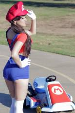 Raychul Moore in a Mario Cosplay