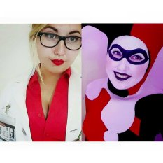 Two halves, one whole lot of crazy. My Harleen_Harley cosplays.